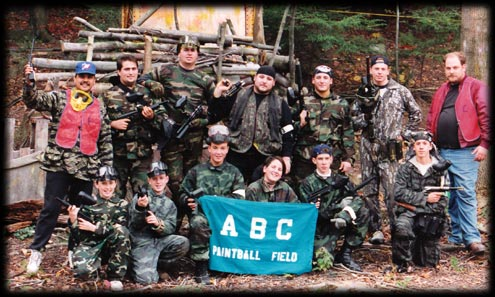 Group Of Paintball Players
